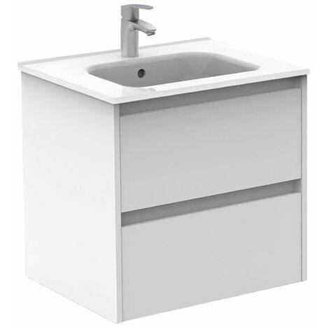 ROYO SANSA Mueble+Lavabo 2 Cajones Blanco
