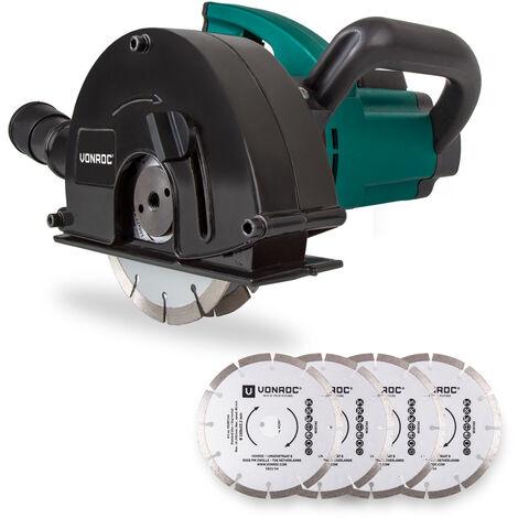 """main image of """"Rozadora de pared VONROC   Fresadora de 1700W - 150mm con discos de diamante y una bolsa para guardar la herramienta"""""""