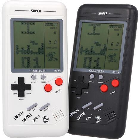 """main image of """"Rs-99 Jeu Classique Console Bloc Tetris Jeu Jeu Puzzle Machine Games Jeu Portable Pour Les Enfants Integre Dans 26 Types De Jeux, Noir"""""""