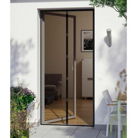 RS Rideau de porte magnétique 95x215cm - Noir