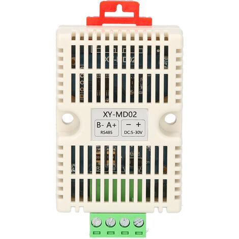 RS485 Temperatura Humedad Transmisor RS485 Modbus-TRU de temperatura del sensor de temperatura-humedad Sensores de temperatura y humedad Monitoreo XY-MD02, Blanco, XY-MD02,1 #