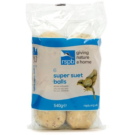 Rspb Super Suet Fat Balls Bird Food (Pack of 6) (One Size) (May Vary)