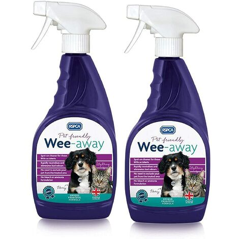 """main image of """"RSPCA 2 x 500ml Wee-Away Probiotic Pet Friendly Stain & Odour Remover"""""""