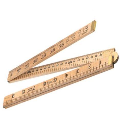 R.S.T. Wooden Folding Rule 1m / 39in