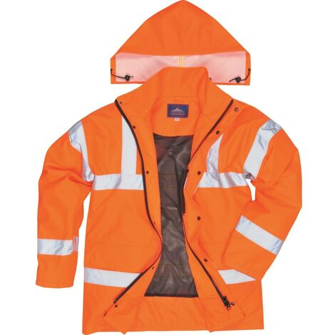 RT60 Rail Industry Orange Breathable Jacket