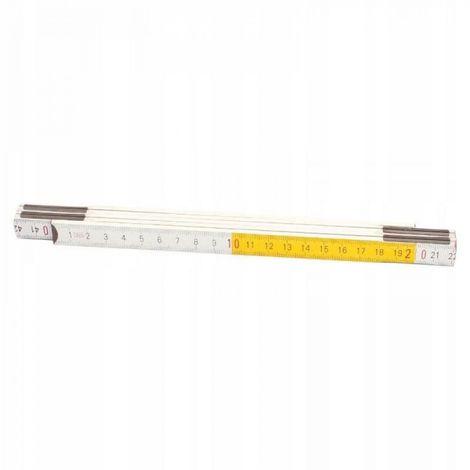 Ruban à mesurer en bois mètre pliant renforcé 1m