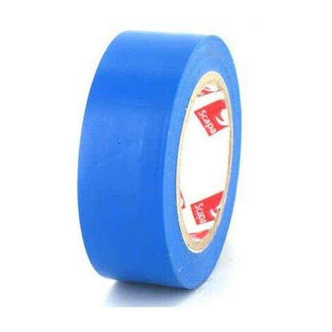 Ruban adhésif 19 mm PVC électrique Scapa 2702 bleu - Bleu