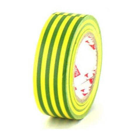 Ruban adhésif 19 mm PVC électrique Scapa 2702 jaune et vert - Vert