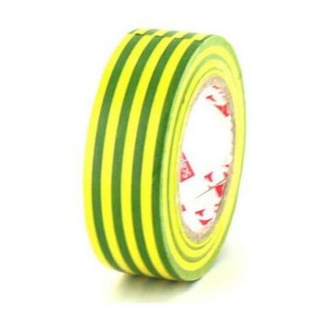 Ruban adhésif 19 mm PVC électrique Scapa 2702 jaune et vert x 5 - Vert