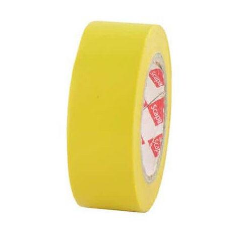 Ruban adhésif 19 mm PVC électrique Scapa 2702 jaune - Jaune