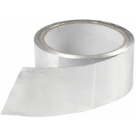 Ruban adhésif aluminium 50 mm (ép. 40μ) x L. 10 mètres Spécial ventilation mécanique - D-Work