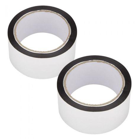 Lot de 2 Rubans Adhésifs Aluminium pour Rouleau Isolant - 2 x 50m