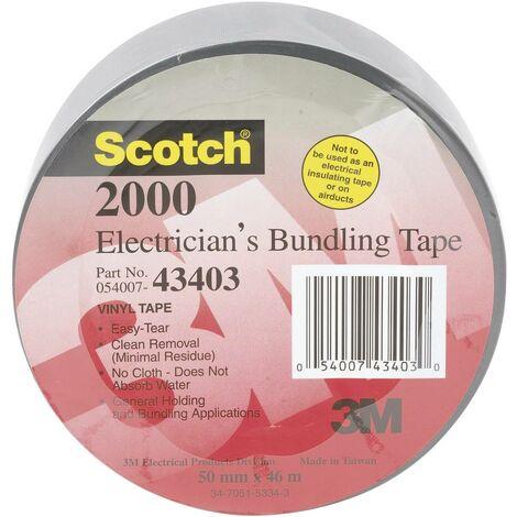 Ruban adhésif étanche Scotch 2000 - Gris - 46 m x 50 mm - 3M