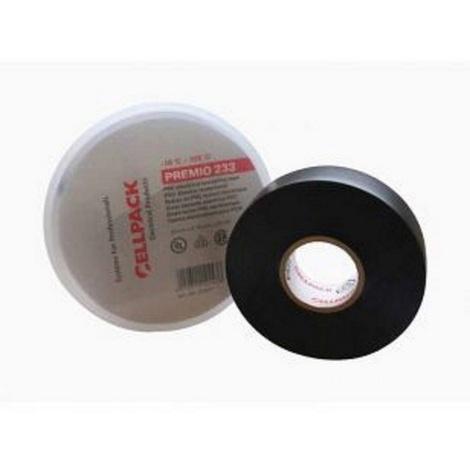 Ruban Adhésif isolant électrique en PVC PREMIO 233 Noir l.19mm - L.20m CELLPACK