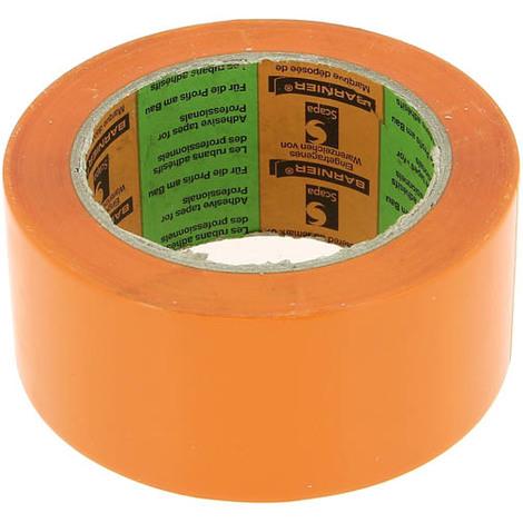 Ruban adhésif PVC construction BARNIER 6095 orange 50mmx33ml