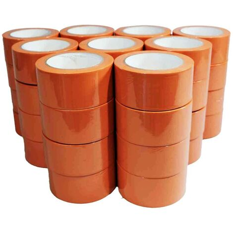 Ruban adhésif PVC orange bâtiment 50 mm x 33 m [Carton 36 Rlx] - rouleau adhésif 150µ