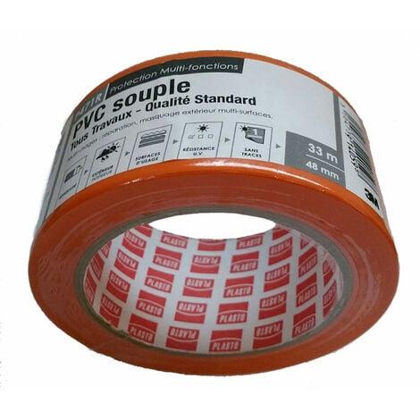 Ruban adhésif PVC souple 33m x 48mm - 3M