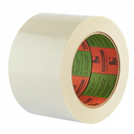 Ruban adhésif raccordement de laine de verre Barnier - Longueur 66 m - Largeur 75 mm - Blanc
