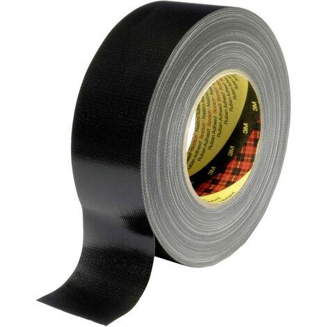 Ruban adhésif toilé 389 3M XT-0034-0092-3 noir (L x l) 50 m x 50 mm résine caoutchouc adhésive 50 m