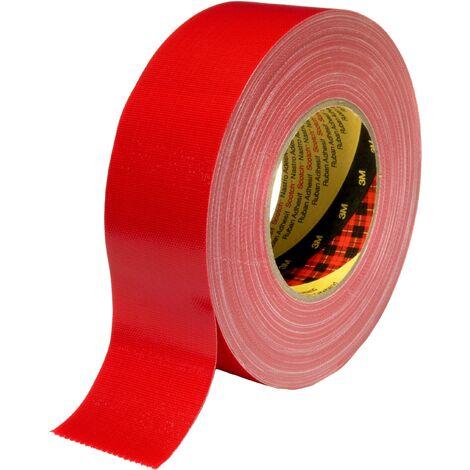 Ruban adhésif toilé 3M 389R38 rouge (L x l) 50 m x 38 mm 1 pc(s) Q139262