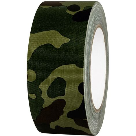 Ruban adhésif toilé 80B50L25CC TOOLCRAFT 80B50L25CC camouflage (L x l) 25 m x 50 mm adhésif thermofusible 1 pc(s)