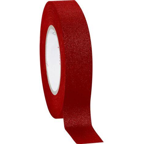 Ruban adhésif toilé Coroplast 39756 rouge (L x l) 10 m x 19 mm caoutchouc 1 pc(s)