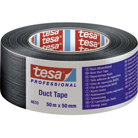 Ruban adhésif toilé tesa® Duct tape tesa 04610-00004-00 noir (L x l) 50 m x 50 mm caoutchouc 1 pc(s)