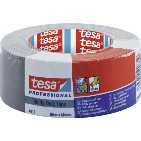 "main image of ""Ruban adhésif toilé tesa® Duct tape tesa 04613-00037-01 argent (L x l) 50 m x 48 mm caoutchouc 1 pc(s) S19969"""