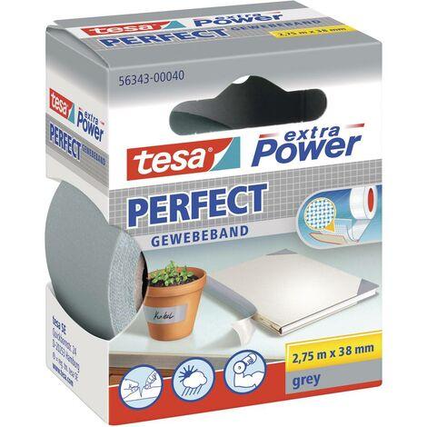 Ruban adhésif toilé tesa® extra Power tesa 56343-40-2 gris (L x l) 2.75 m x 38 mm caoutchouc 1 pc(s)