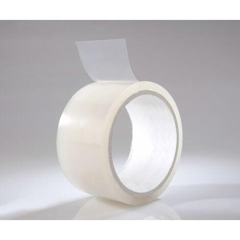 Ruban adhésif transparent et résistant aux intempéries pour l'extérieur, d'une largeur d'environ 50 mm et d'une longueur de 25 mètres
