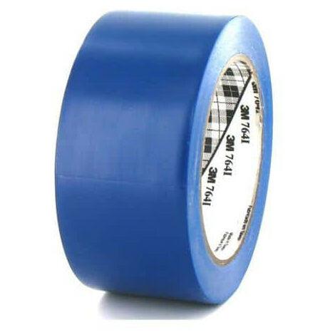 Ruban adhésif vinyle 3M 764 bleu 50mm
