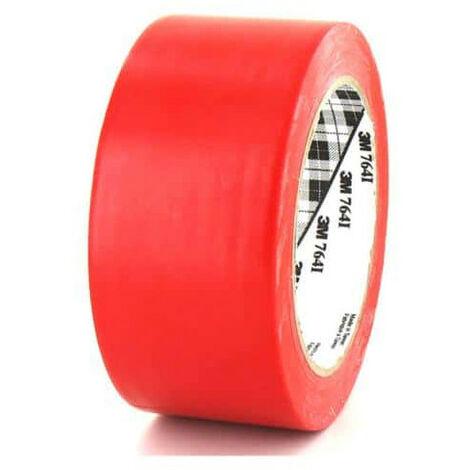 Ruban adhésif vinyle 3M 764 rouge 50mm - Rouge