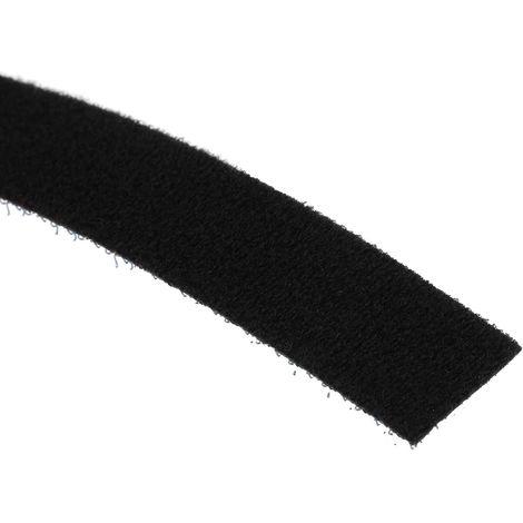 Ruban auto-agrippant Noir, Crochets et Boucles, 20mm x 10m
