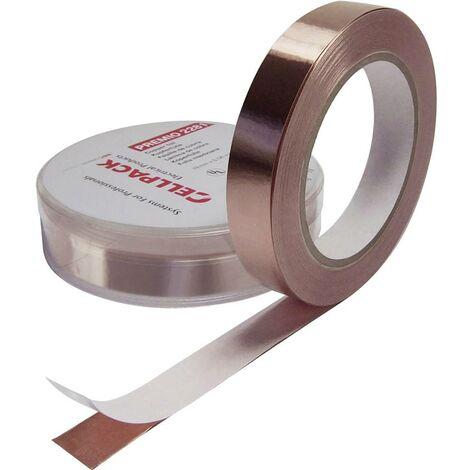 Ruban cuivre adhésif CellPack 223578 Premio 2281 cuivre (L x l) 33 m x 9 mm 33 m