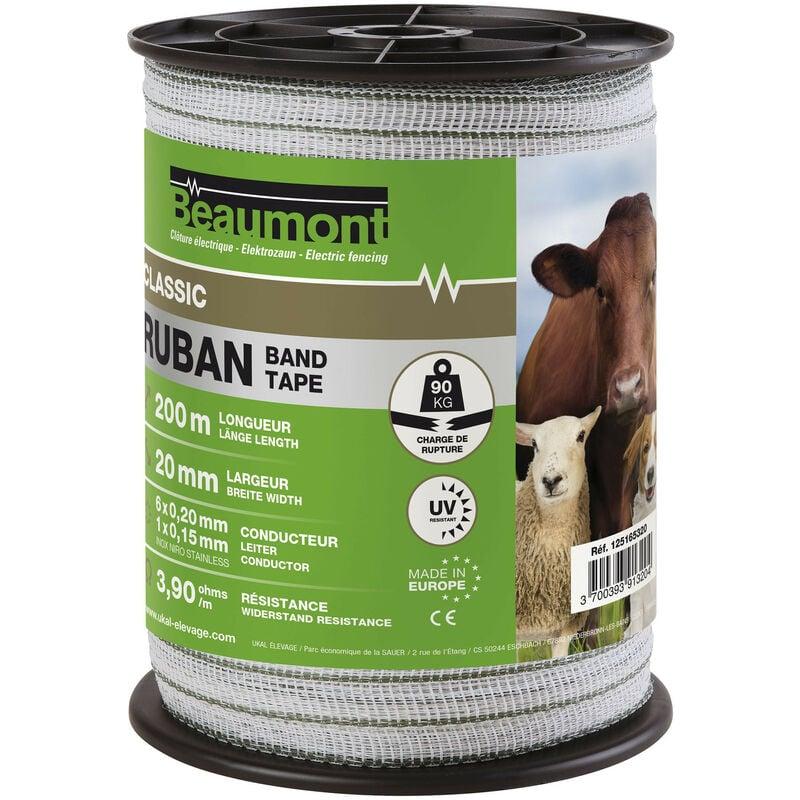Ruban de clôture électrique 200 m larg. 20 mm
