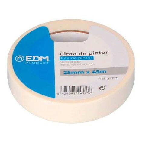 Ruban de masquage EDM - pour peinture - 25mm - 45m - 24171