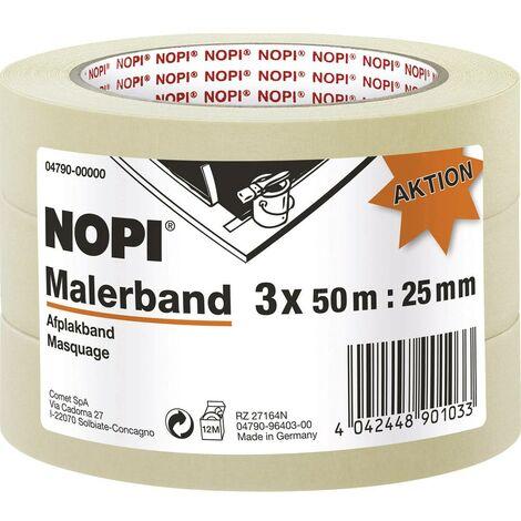 Ruban de masquage pour peinture tesa NOPI® 04790-00000-01 beige (L x l) 50 m x 25 mm 3 pc(s)