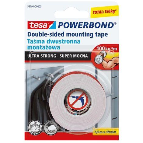 Ruban de montage Powerbond super-forte de 1,5 m: 19mm