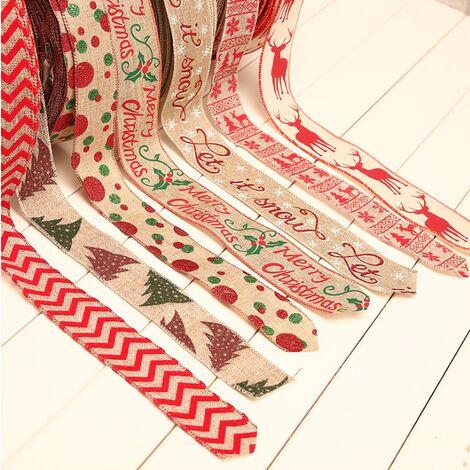 Ruban de toile de jute de faveur de mariage rustique avec ruban de ruban de décoration de Noël coloré