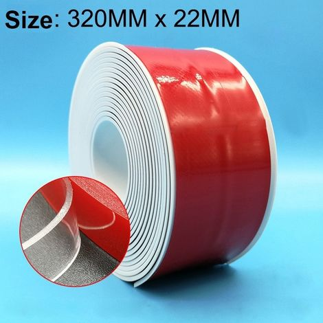 Ruban imperméable à l'eau et à la moisissure pour cuisine salle de bains en PVC, taille: 22 mm x 3,2 m (blanc)