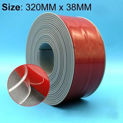 Ruban imperméable à l'eau et à la moisissure pour cuisine salle de bains en PVC, Taille: 38mm x 3.2m (Gris)