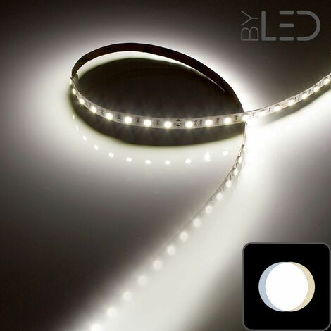Ruban IP68 5050 - Blanc - 14,4W/m - 60 LED/m - 5m | Blanc Lumière du jour - 60 LED/m - IP68 - 14.4 W/m