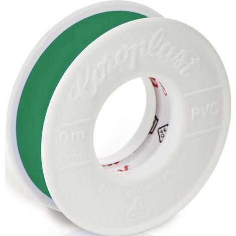 Ruban isolant électrique 302 vert Longueur 10 m Largeur 15 mm Rolle