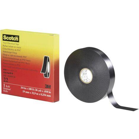 Ruban isolant Scotch™ 22 3M 7000031345 noir (L x l) 33 m x 38 mm 1 pc(s)