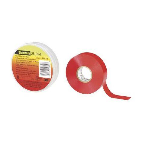 Ruban isolant Scotch® 35 3M SCOTCH35-19X20RD rouge (L x l) 20 m x 19 mm 1 pc(s)