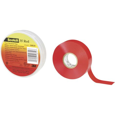Ruban isolant Scotch® 35 3M SCOTCH35-19X20RD rouge (L x l) 20 m x 19 mm 1 pc(s) S10351