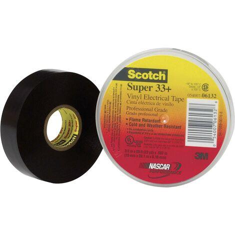 Ruban isolant Scotch® Super 33 3M SUPER33+-19X6 noir (L x l) 6 m x 19 mm 1 pc(s) S13388