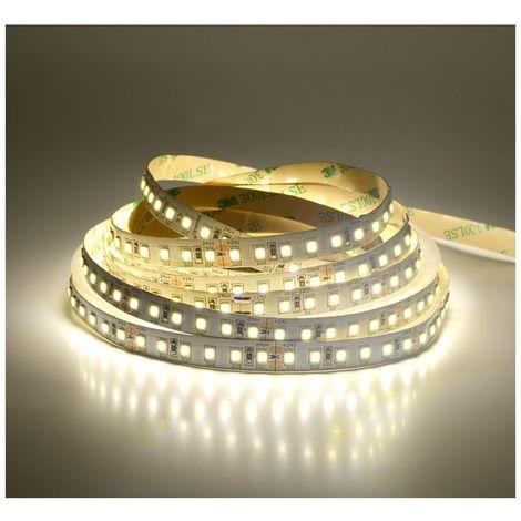 Ruban LED 12 Watts/m - 120 LED/m Blanc - Rouleau 5M 12V