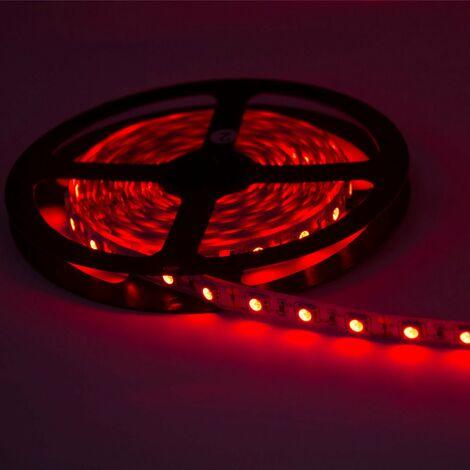 ruban led 12v 5m 5050 rouge ip20 60led m 5m5050 60ip20 red. Black Bedroom Furniture Sets. Home Design Ideas