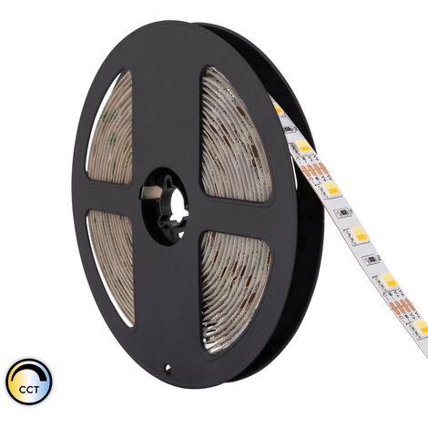 Ruban LED 12V DC 60LED/m 5m CCT Sélectionnable IP20 Sélectionnable (Chaud-Neutre-Froid) - Sélectionnable (Chaud-Neutre-Froid)